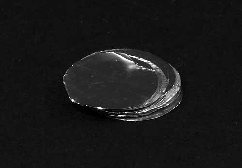 Tin Foil Discs Ultra-Light Weight 13.5mm diameter pack of 100